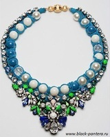 Shourouk Necklace blue 2014